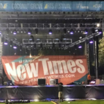 Design your own stage banner,stage back drops, concert led lighting, Logo banners for your stage or event, led up lighting rental,