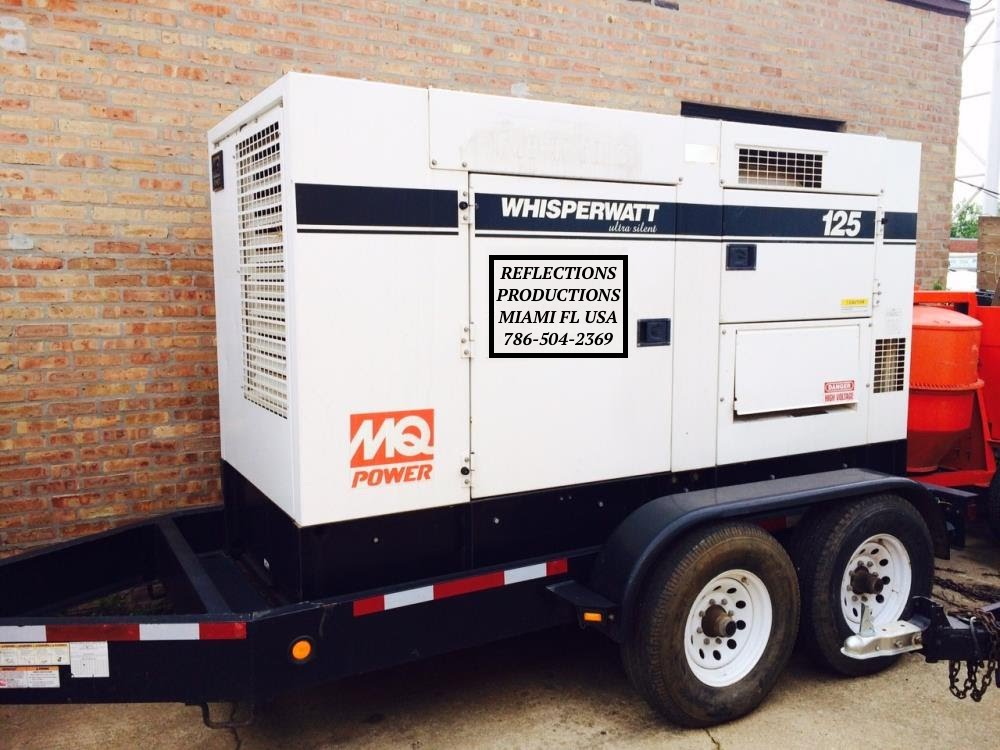 Rent Generator for events, Rent Feeder cable miami, Reflections Productions
