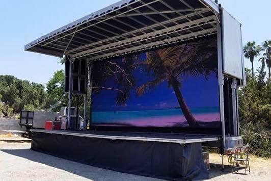 mobile stage rental Miami